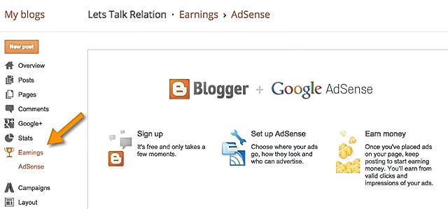 BlogSpot-AdSense Make money with Adsense