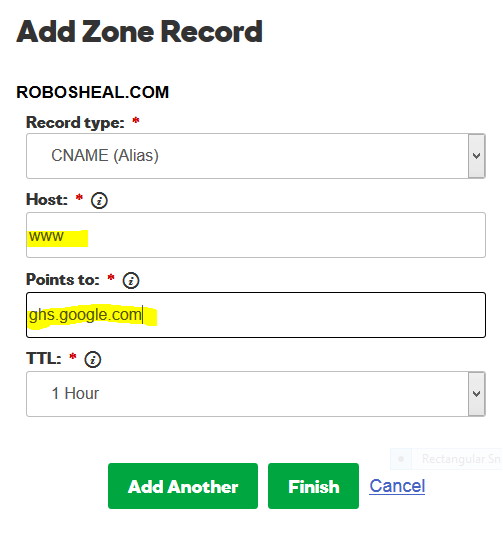 Add-cnames-to-the-godaddy How To Setup a Custom Domain Name on Blogger With Godaddy