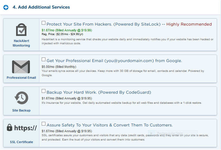 Additional-services-of-Hostgator How to Migrate From Blogger To Wordpress  within 5 Minutes
