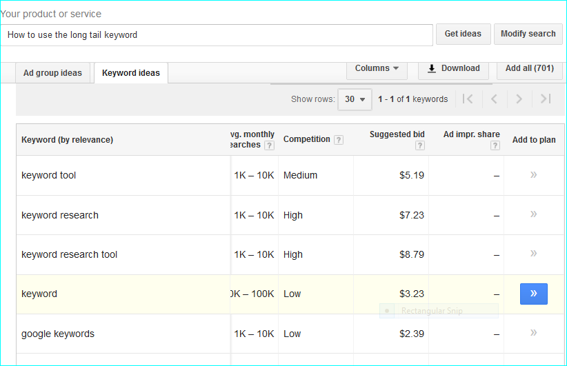 High-Paying-Keyword-Search How To Increase The Cost Per Click of Google Adsense