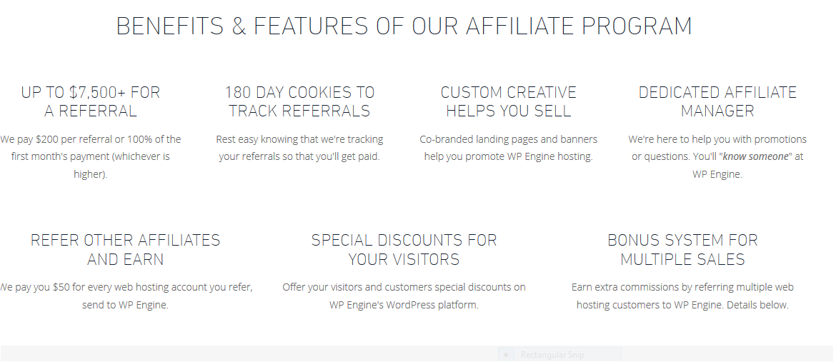 benefits-and-features-of-wp-engine-affiliate-program 5 Best Web Hosting For Affiliate Marketing